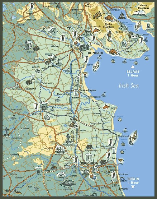 Map Of Ireland Near Dublin.Map Of Castlebellingham Co Louth Ireland